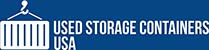 used storage containers usa logo